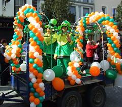 Leprechauns! (magnum_lady) Tags: ireland orange white green balloons culture parade colourful stpatricks leprechauns sligo colorphotoaward riotofcolours