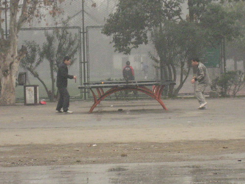 Ping pong on Sichuan University campus