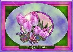 MIMI'S HAPPY EASTER FRAME CONTEST (fantartsy JJ *2013 year of LOVE!*) Tags: flowers blue roses color macro nature beauty photoshop easter spring tulips magic fantasy frame collaborative inspire photoart specialeffects superbmasterpiece eliteimages theperfectphotographer clevercreativecaptures flickrhighqualityphoto mimisframecontest