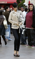rihanna walking the streets