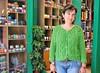 Elena and her Summer cardi (sifis) Tags: summer green wool shop shopping nikon knitting pattern knit athens bamboo greece cotton jacket cables cardigan d3 cardi αθηνα sakalak μαθηματα πλεκω πλεξιμο μαλλια σακαλάκ