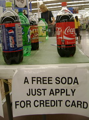 Free Soda for Credit Card