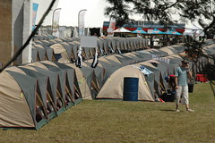 Tents in rows (by Louis Rossouw)