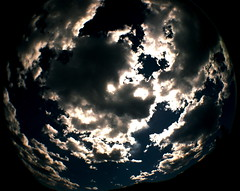 Face full of clouds (kevin dooley) Tags: arizona sky favorite fish southwest film beautiful face pine clouds analog 35mm wow lens interesting fantastic lomo lomography strawberry flickr pretty shot desert very cloudy good gorgeous awesome country extreme central wide may award superior super best full fisheye most winner stunning excellent much rim 2008 incredible breathtaking payson exciting phenomenal fisheye2