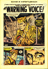 A Warning Voice (page 1) scan from Mystery Tales 40