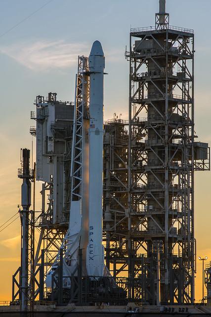 Falcon 9 and Dragon Vertical at Pad 39A