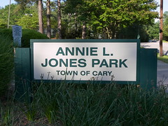 Cary NC:  Annie Jones Park