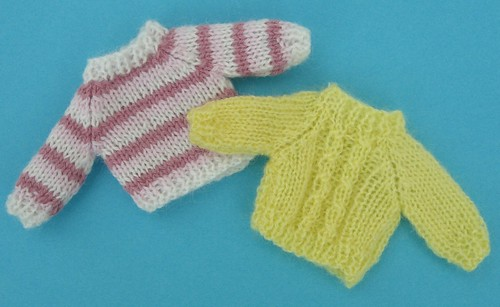 Knit Doll Pattern Easy : Ravelry: Easy to Knit Miniature Knitting Patterns for the ...