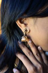 Trip To Hyderabad (mynameisharsha) Tags: india 50mm gold nikon dress purple teal jewelry ring ear hyderabad pendant detailed bangles intricate kurta 50mmf18af d7100 mynameisharsha