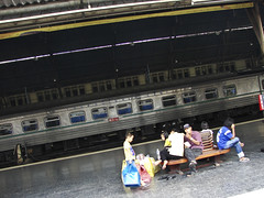 Leaving Bangkok train station