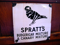 Spratt's Budgie (DanMud) Tags: uk england london vintage advertising typography star cafe soho nostalgia budgie spratts danmud