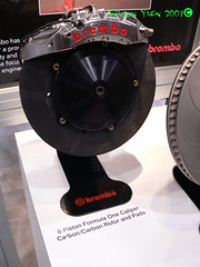 Brembo Booth (sevensixnyc) Tags: cars f1 brakes carbon racer brembo caliper sema2007