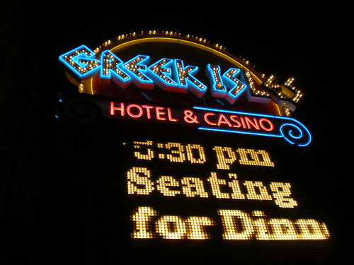 Greek Isles Casino Sign