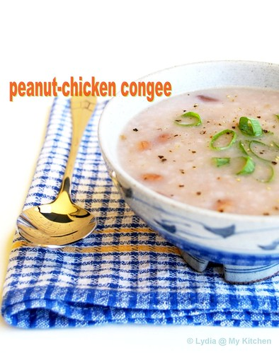 Peanut-chicken congee