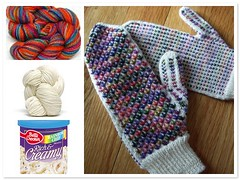 2008 Project-to-be: Rainbow chip Fiesta mittens