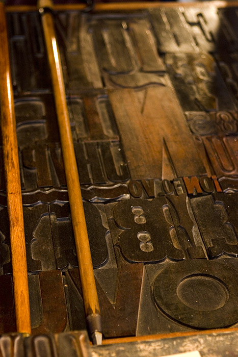 Wooden Letter Press