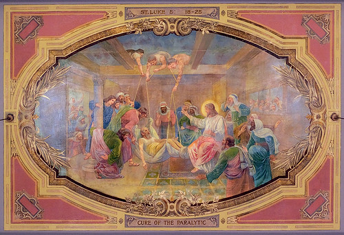Saints Teresa and Bridget Roman Catholic Church, in Saint Louis, Missouri, USA - ceiling painting 2