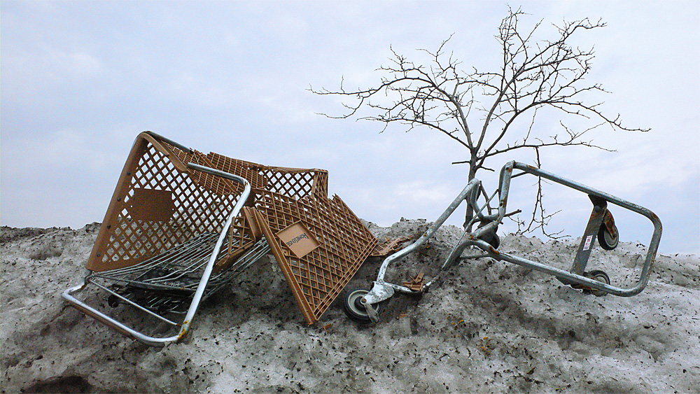 Smashed-up cart