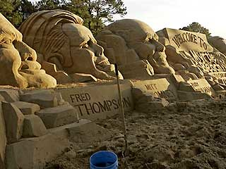 Republicans in Sand Scupltures