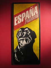 Espaa Paradiso (Dr Case) Tags: madrid dog art stencil exhibition pantarhei noaz espaaparadiso
