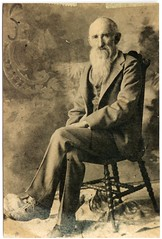 Civil War Veteran John Denton; about 1910.