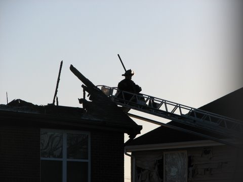 fireman on the roof