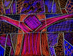 Toxic Christ (traqair57) Tags: abstract art toxic chalk neon christ cross god religion drawings pastels crayons encaustic crucifixion sacrifice antiart