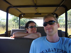 Steph and Niels on safari