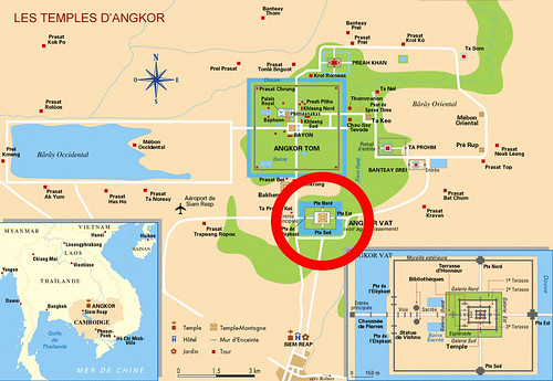 Carte Angkor angkor vat