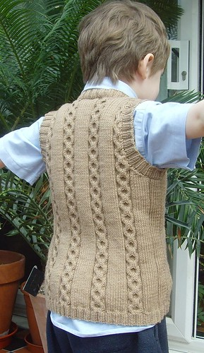 Ravelry Design D Boys Cabled Sweater And Slipover Vest