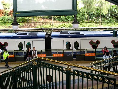 The train of MTR Disneyland Resort line