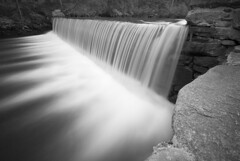 Flow (David Tenebre) Tags: park bw mill water river waterfall long exposure connecticut stamford riverbank newmans singhray morslo