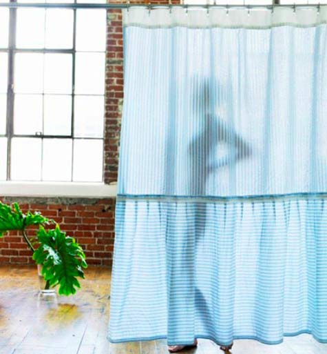 Gallery For Clear Blue Shower Curtain