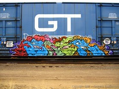 Graffiti Study - Baer TKO BTR (Seetwist) Tags: railroad art train canon bench graffiti march colorado paint grafitti trains denver spraypaint boxcar graffito graff piece aerosol 2008 railfan freight trainspotting tko baer freights btr trainart fr8 rxr railart benching trainspot boxcarart sd900 denvertrainart seetwist seetwistproductions