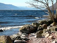 Loch Ness (IrenicRhonda) Tags: lochness loch ness beach shore waves mountain mountains glen greatglen shingle rocks rock monster lochnessmonster nessie water geotagged april 2004 greatglenfault geo:lat=57402087 geo:lon=4345841 pfogold 2007 landscapes nature scenery scotland scottish highlands winner gamewinner beginswithlovore public pregamewinner notsentgetty pre game done redbubble irenicrhonda insta