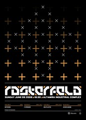 Rasterfeld Event Poster (_Untitled-1) Tags: poster typography design industrial graphic osaka p network spencer custom complex neu altamira plastik sixhexagons rasterfeld botickon