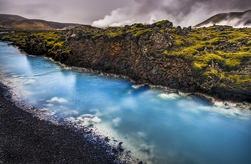 The Blue Calcite Stream Near the Geothermal Event