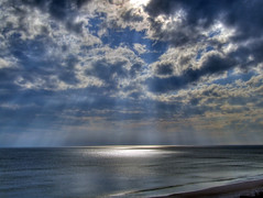 after the storm (earthsound) Tags: ocean vacation 15fav sunlight gulfofmexico water sunshine clouds 1025fav 510fav march spring sand waves florida afterthestorm springbreak shore fl rays sunrays 2008 hdr sunbeams crepuscularrays crepuscular jacobsladder jesusrays anticrepuscular sunstreaks tonemapped fingersofgod godsray autobracketed ropesofmaui gatewaystoheaven anticrespucularrays