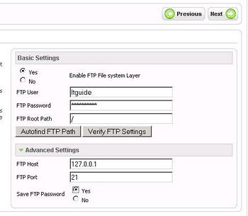 configuring ftp layer using joomla