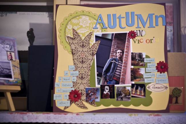 Autumn scrapbook page