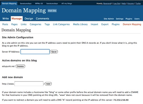 Image of Domain Mapping Tab
