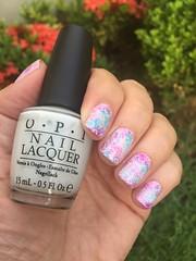 Esponjado + Carimbo (Jane Iris) Tags: unhas esmalte nail art polish