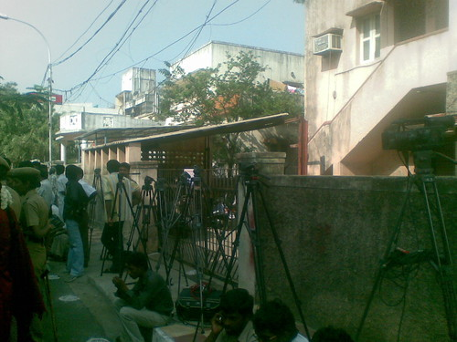Video cameras on vigil, expecting Karunanidhi