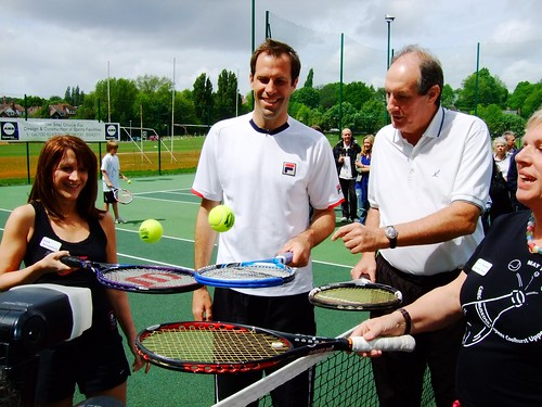 Greg Rusedski - Opening new courst at Coolhurst Tennis Club with Greg Rusedski