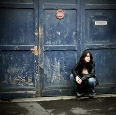 So far from your weapon (Pauline Franque) Tags: portrait woman rock garage squarepicture inspirationallissonmosshart