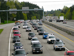 Northbound I-405 rush hour