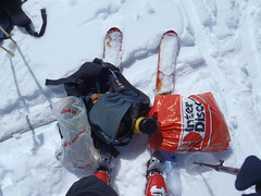 Pause.... (mboelli) Tags: skitour lötschenlücke