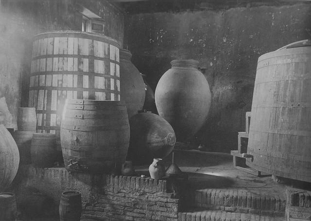 Bodega del Palacio de Buenavista en 1915. Foto de Anna M. Christian. The Hispanic Society of America