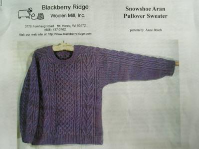 Snowshoe Aran Pullover Sweater