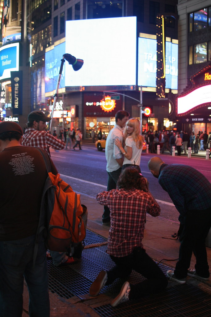 Times Square Fashion Shoot